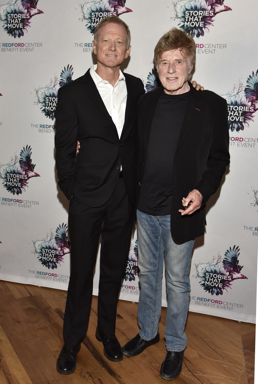 Robert és James Redford 2018-ban a The Redford Center jótékonysági eseményén.