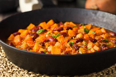 Vega chilis bab sütőtökkel – Ugyanolyan laktató, mint a húsos változat