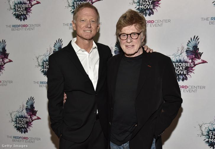 James (balra) és Robert Redford 2018-ban