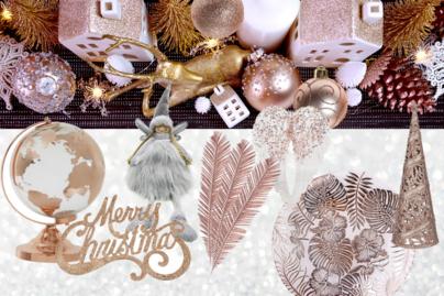 Frissítsd fel a karácsonyi dekorációt rózsaarannyal! (x)