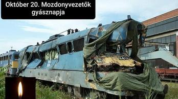 Tíz éve halt meg a bátor kollégájuk, ma van a magyar mozdonyvezetők gyásznapja