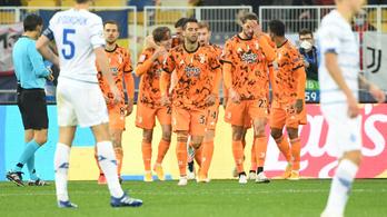 Ronaldo nélkül is győzelemmel kezdte a BL-t a Juventus