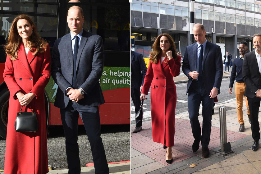 Katalin hercegné ellenállhatatlanul festett ebben a tűzpiros kabátban.