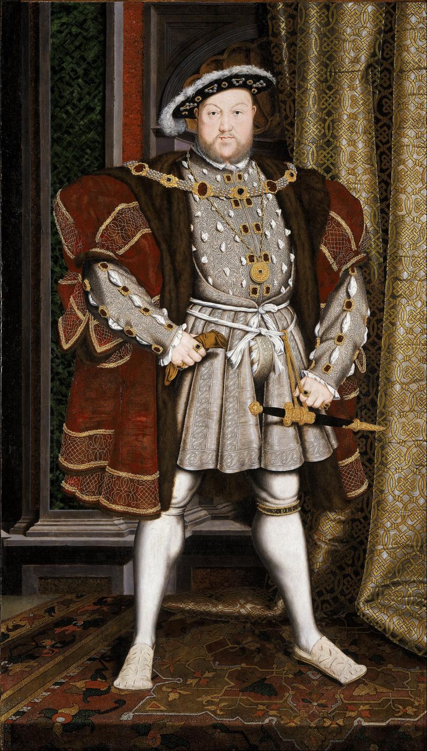 Ifj. Hans Holbein festménye VIII. Henrikről.
