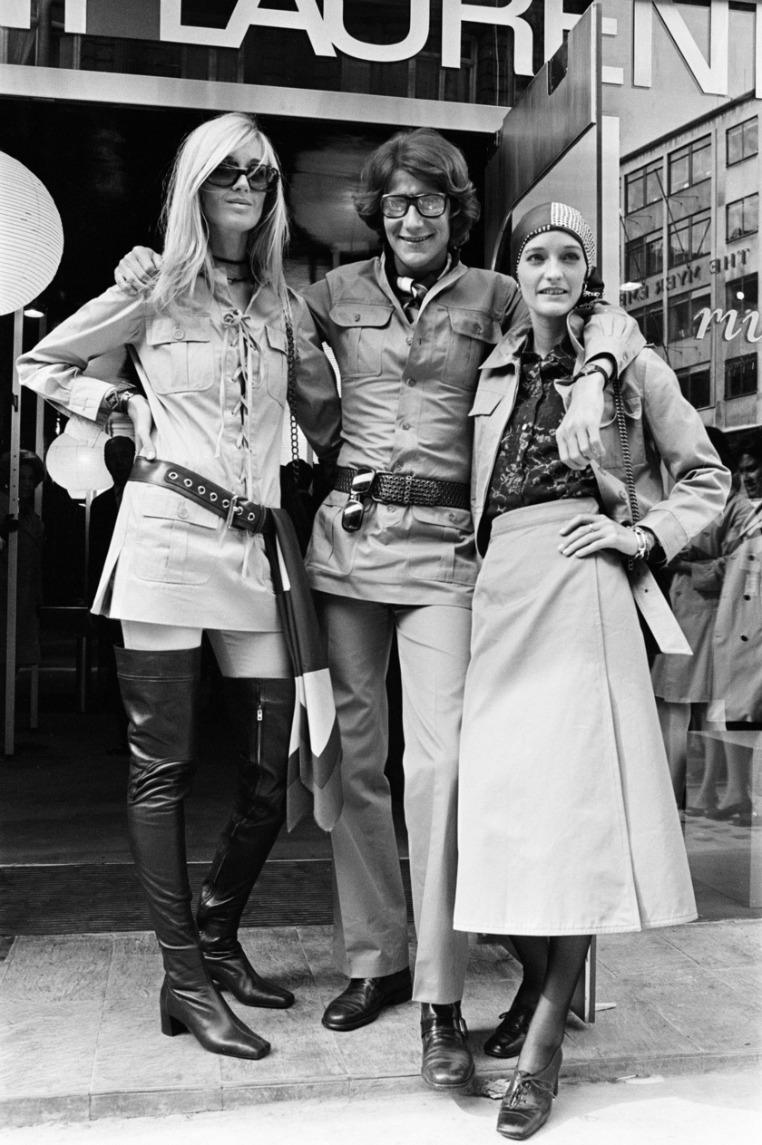 Betty Catroux, Yves Saint Laurent és Louise de La Falaise, azaz Loulou 1969-ben.