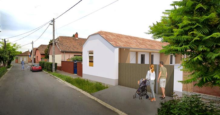 A könnyűszerkezetes ház látványterve