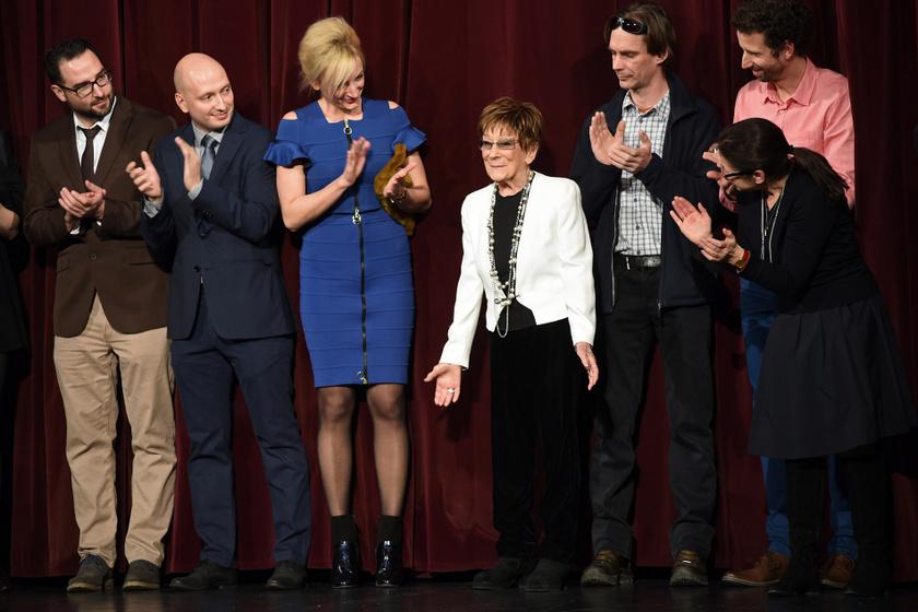 2017 februárjában a Testről és lélekről díszbemutatóján az Uránia Filmszínház színpadán.