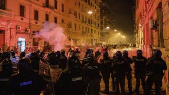 Zavargásokba torkollott a kijárási tilalom elleni nápolyi tüntetés