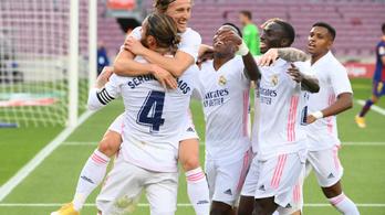 A Real Madrid legyőzte idegenben a Barcelonát