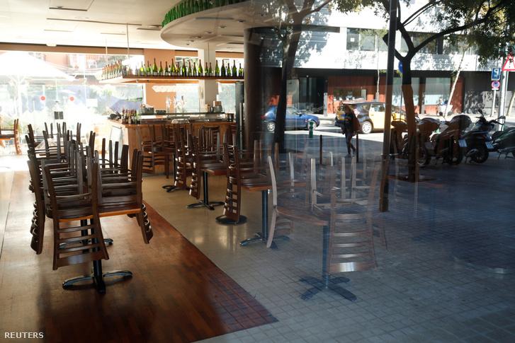 Bezárt étterem Barcelonában