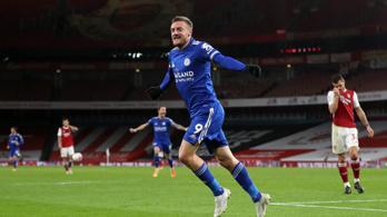Jamie Vardy gólja győzelmet ért a Leicesternek az Arsenal otthonában