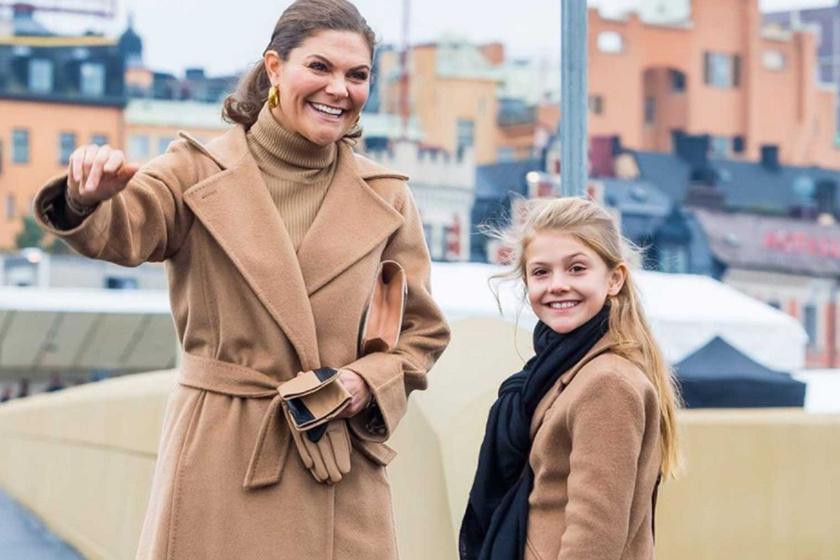 A hercegnő Max Mara kabátjában roppant sikkes volt, lánya pedig úgy festett, mint a miniatűr mása.