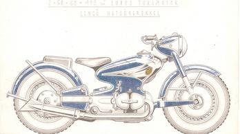 Az ötvenes években Magyarországon is terveztek váznélküli motorkerékpárt