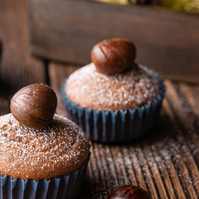 Villámgyors gesztenyés muffin meggyel dúsítva – Gesztenyepüréből is tökéletes lesz