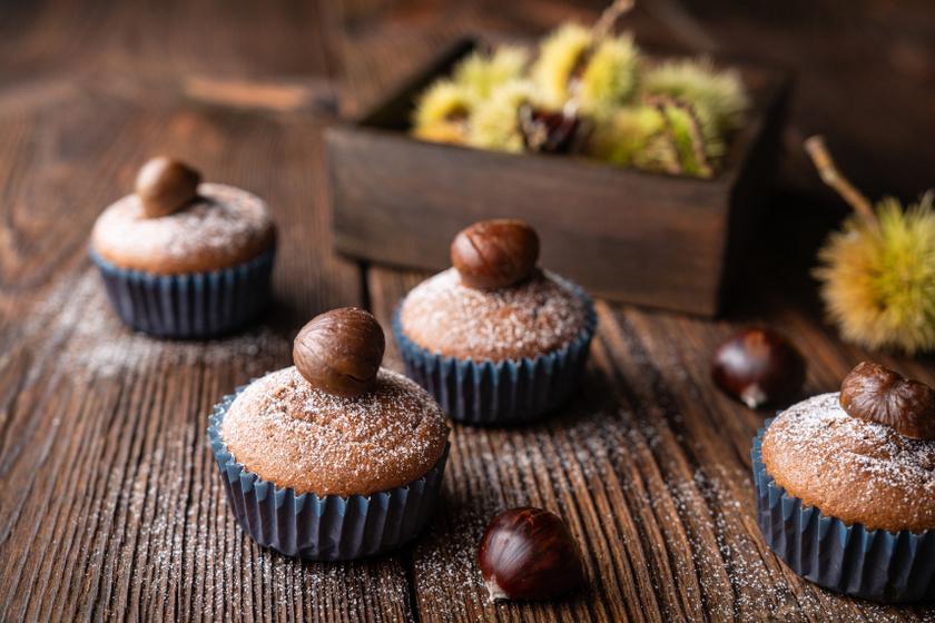 gesztenyés muffin recept