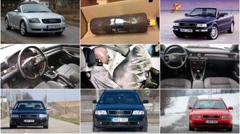 Huszonéves Audikat is visszahívnak a veszélyes légzsákok miatt