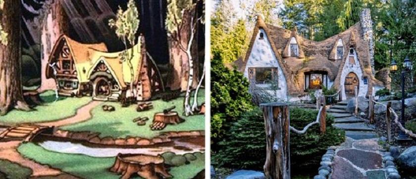 Nem is házikó, sokkal inkább egy valóságos műalkotás, amit Hófehérke és a hét törpe erdei otthona alapján készítettek Washingtonban. Mivel minden kis részletre odafigyeltek, így közel harminc évig tartott a felépítése.