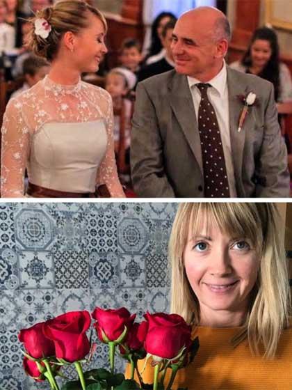 """""""Kilenc éve és ma"""" - írta a fotó mellé a műsorvezető egy szívecske kíséretében."""