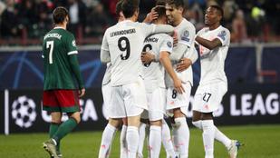 Moszkvában, a korábbi fehérvári edző csapata ellen is nyert a Bayern
