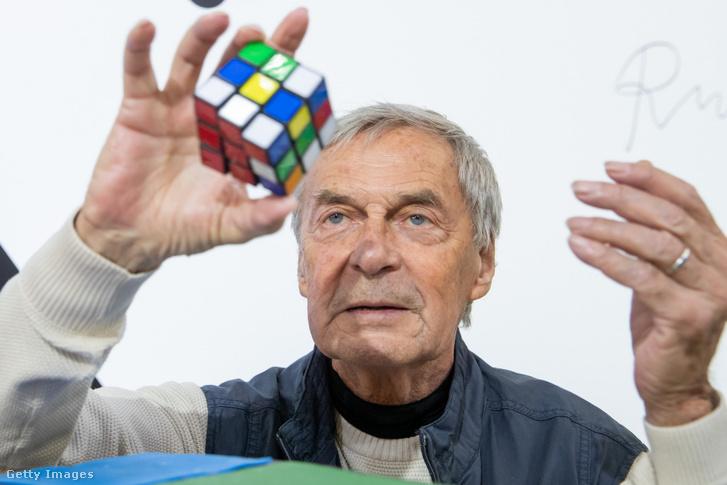 Rubik Ernő az International Toy Fair megnyitóján 2020-ban