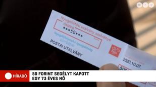Mindössze 50 forint segélyt kapott az államtól a nyugdíjas