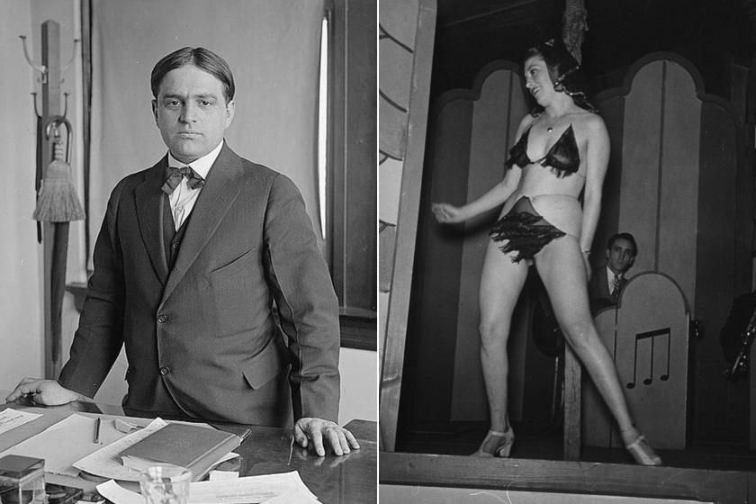 Fiorello La Guardia polgármester és egy táncosnő 1939-ből.