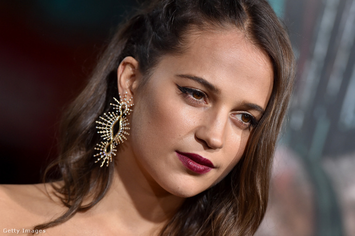 Alicia Vikander a Tomb Raider Los Angeles-i bemutatóján 2018. március 12-én