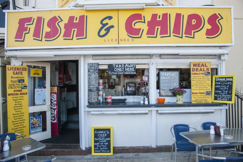 fish and chips bódé belső