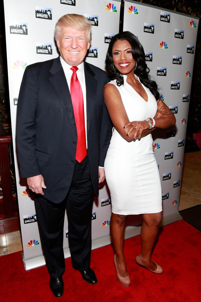 Donald Trump és Omarosa Manigault Newman 2013-ban.
