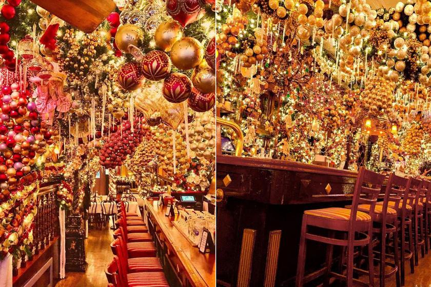 Elképesztő, ahogy ez az étterem karácsonyi pompába borult - Itt nem sajnálják a díszeket