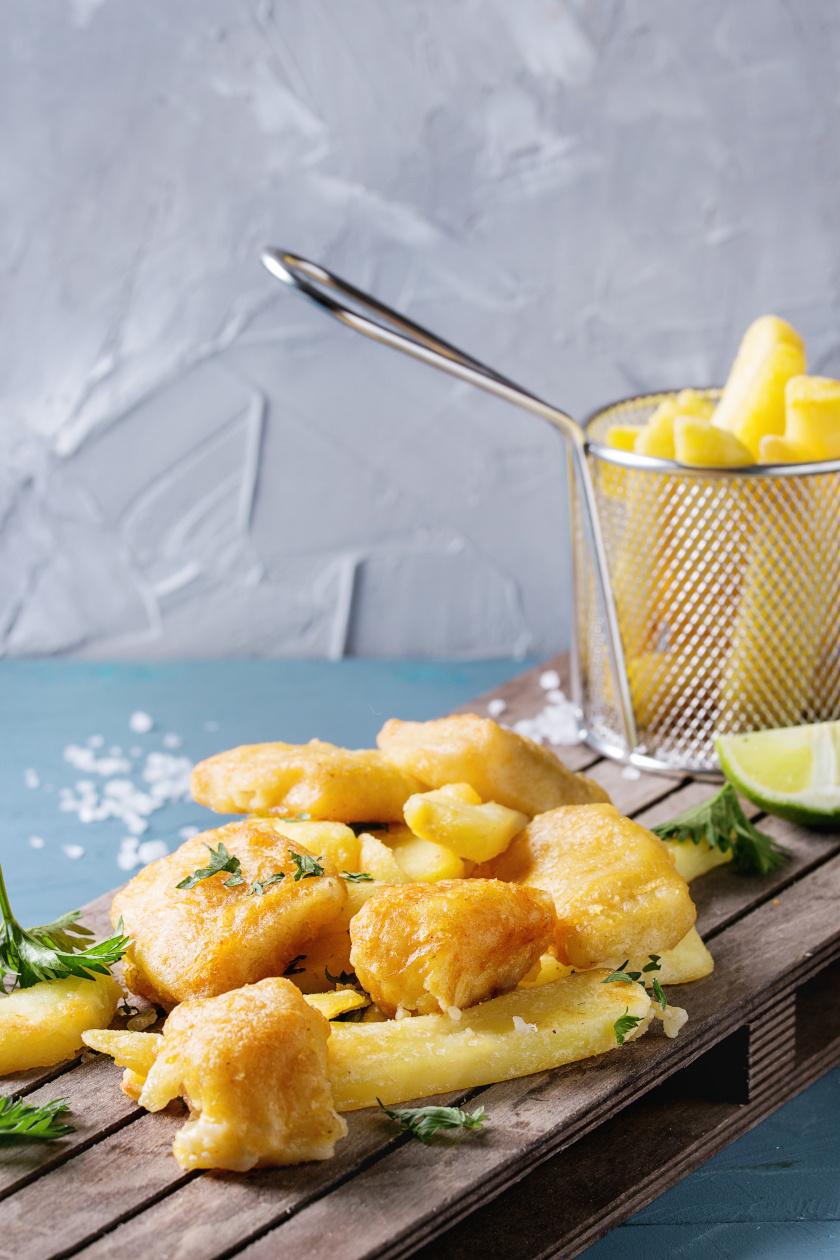 fish and chips álló menü belső