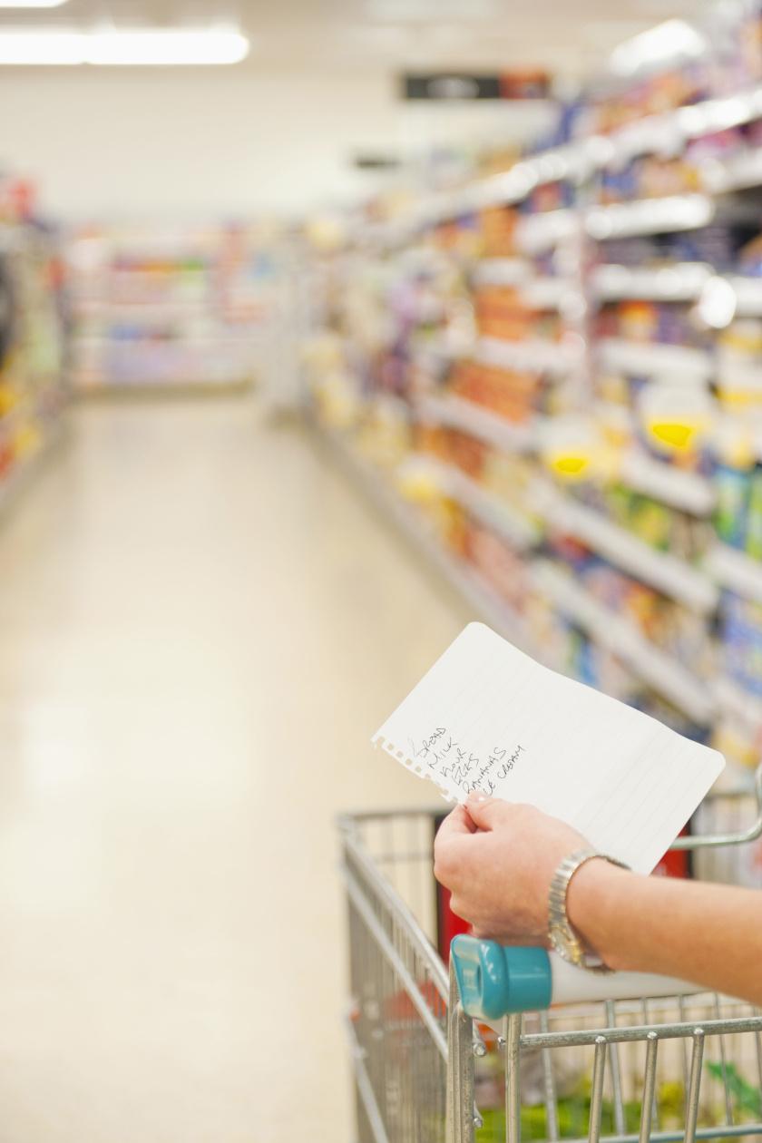 bevásárló lista álló belső