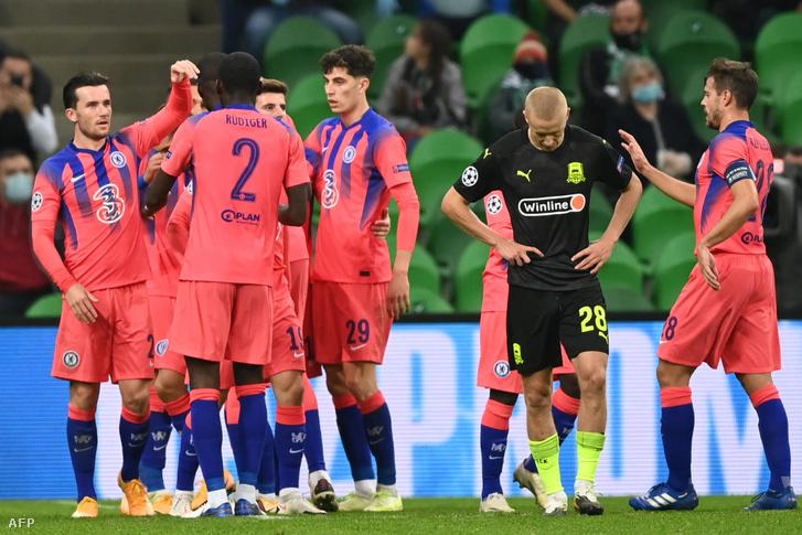 A Chelsea négyszer vette be a Krasznodar kapuját