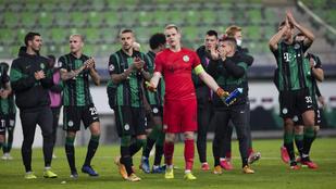 Bravúros döntetlent játszott a Fradi a Dinamo Kijevvel a BL-ben