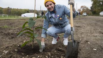 Puskás Petivel ültettek fákat a 2022-es hazai kézi-Eb szervezői a környezetvédelem jegyében