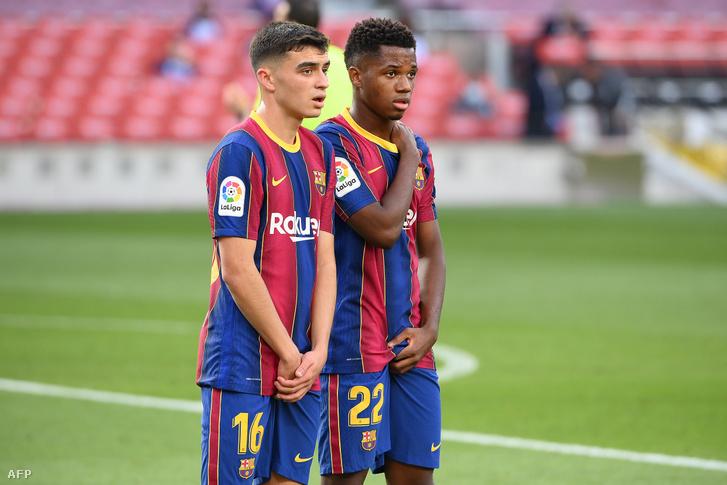 Pedri és Ansu Fati miatt rendkívül fényes a Barcelona jövője