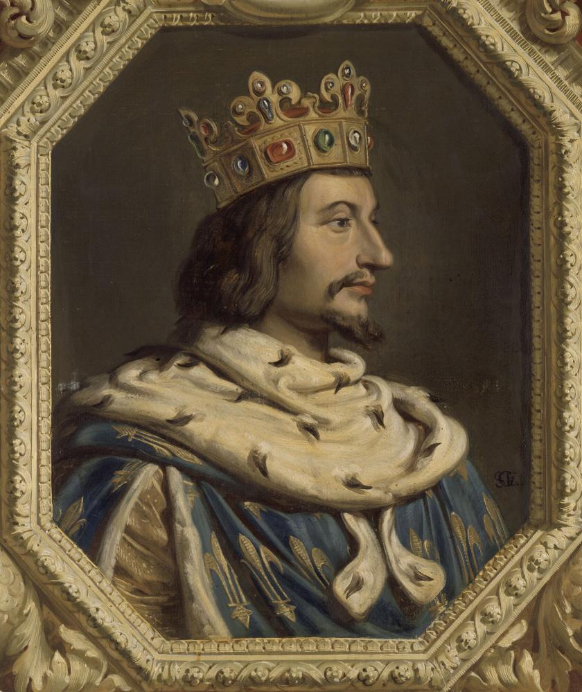 V. Károly portréja, melyet Gillot Saint-Èvre festett.