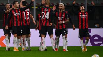 Simán nyert a Milan, a Tottenham viszont kínos vereséget szenvedett az Európa-ligában