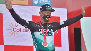 Pascal Ackermann pályafutása első szakaszgyőzelmét aratta a Vueltán