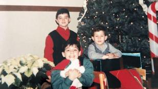 Nick Jonas eddig nem látott családi karácsonyi képeket posztolt