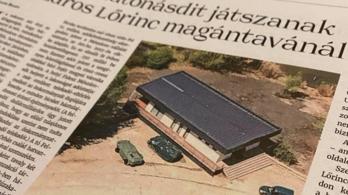 Mészáros Lőrinc birtokán fotózott, most a rendőrséghez fordult Hadházy Ákos