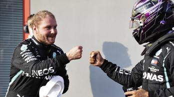 Bottas megelőzte Hamiltont, a finné a pole Imolában