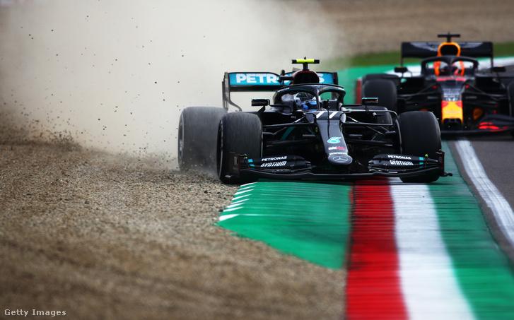 Valtteri Bottas hibája, mielőtt Max Verstappen megelőzte
