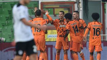 C. Ronaldo gólokkal tért vissza, győzelemmel hangolt a Fradi elleni meccsre a Juventus