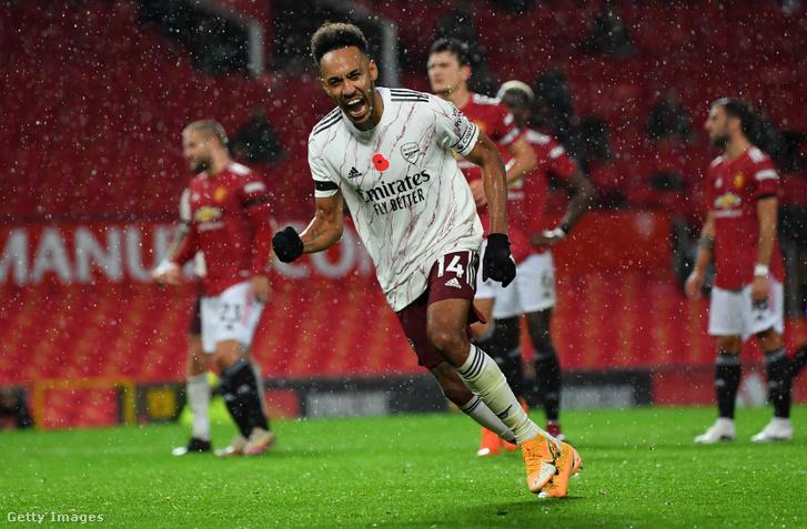 Pierre-Emerick Aubameyang gólja három pontot ért az Arsenalnak
