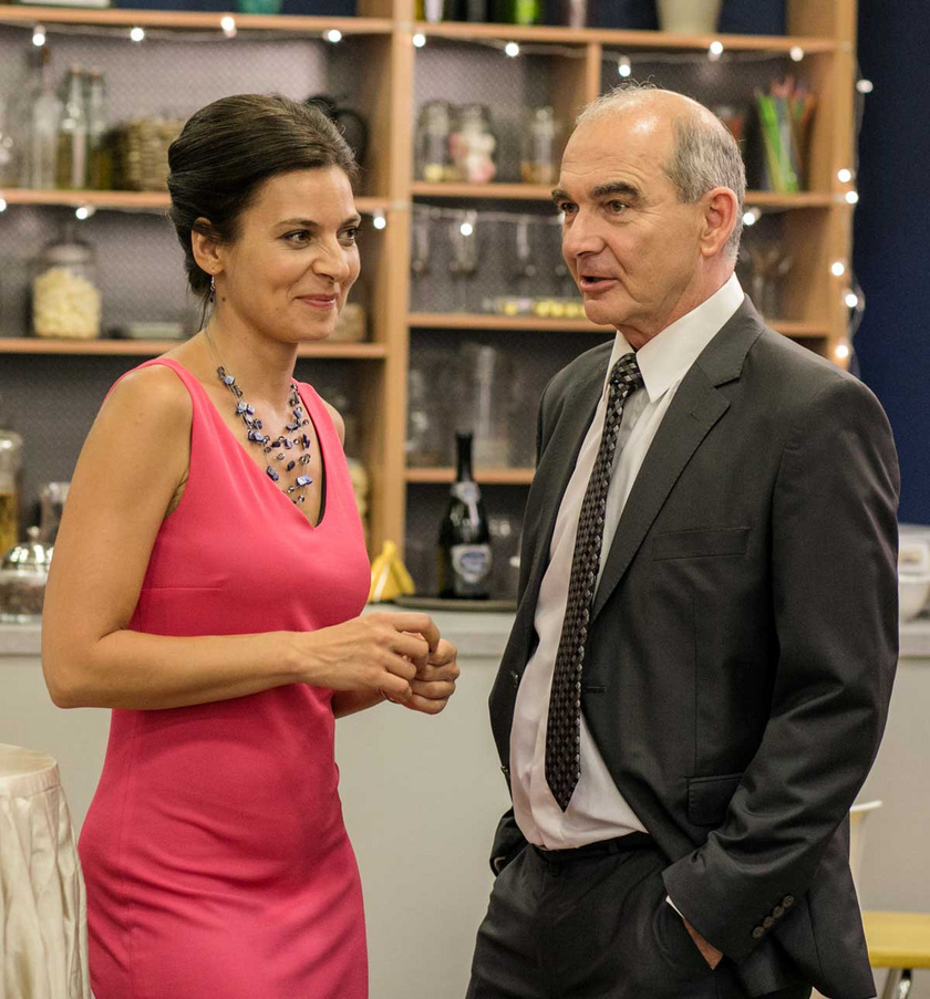 Szervét Tibor és Szávai Viktória a Duna Tv Csak színház és más semmi című sorozatában.