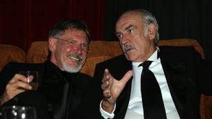 """""""Ha a mennyben van, remélem, van golfpálya"""" – Harrison Ford is megemlékezett Sean Conneryről"""