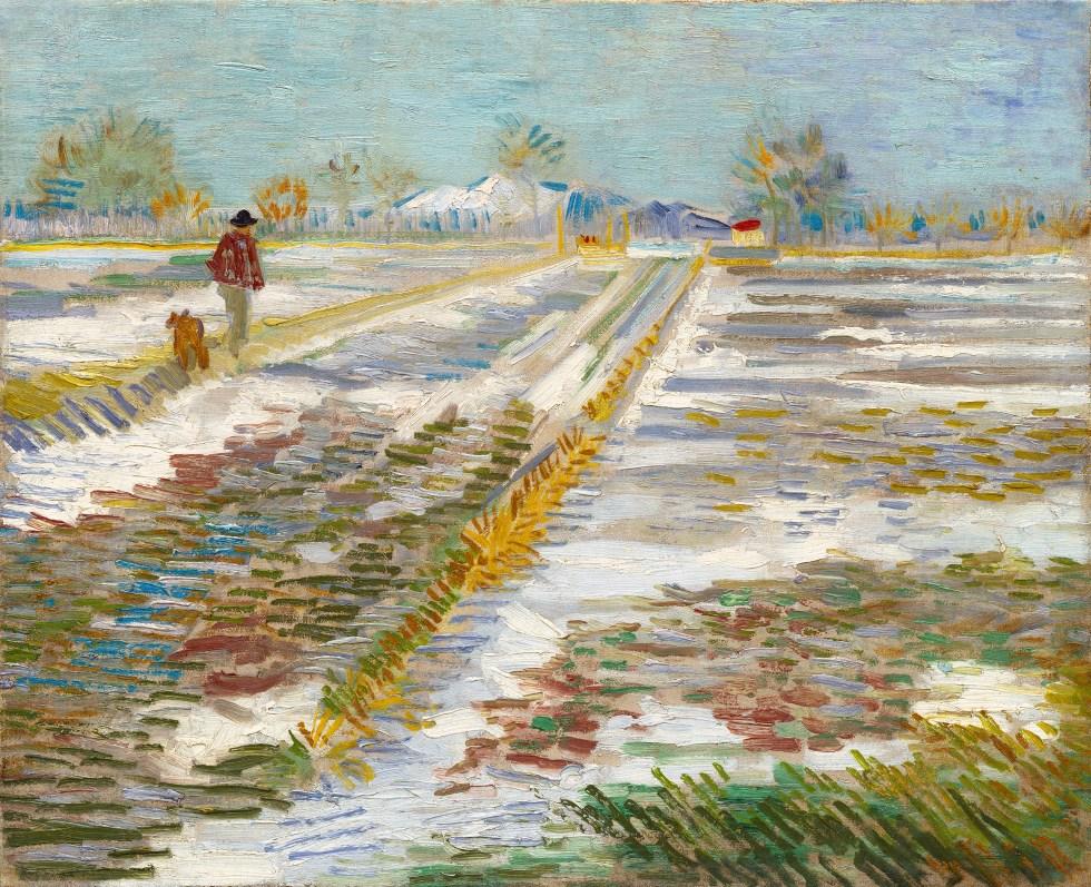 Ki festette ezt a jellegzetes ecsetkezelésű művet? (A művész többek között a csillagos éj és a napraforgók ábrázolásáról is híres.)