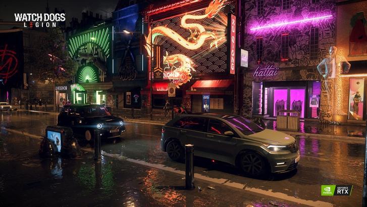 A Watch Dogs Legion tobzódik a sugárkövetés-effektust használó tükröződésekben (Forrás: Ubisoft)