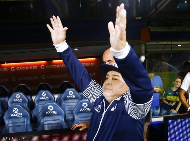 Diego Maradona a Gimnasia márciusi bajnokiján
